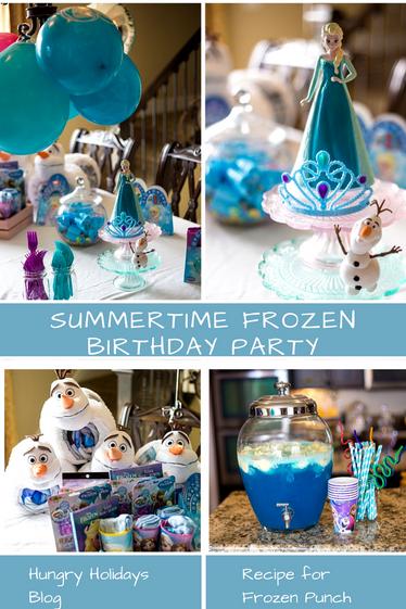 A Summertime Frozen Themed Party