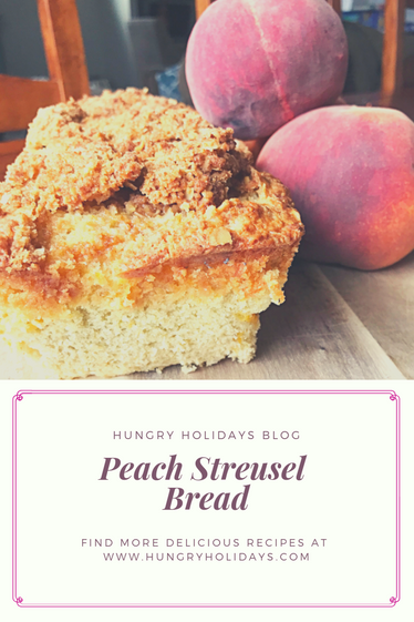 Peach Streusel Bread