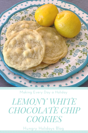 Lemony White Chocolate Chip Cookies