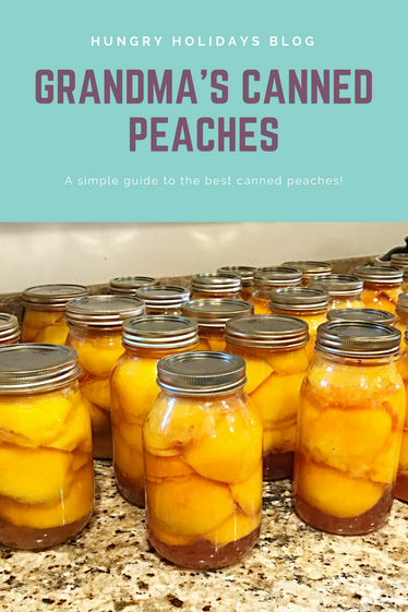 Grandma's Canned Peaches