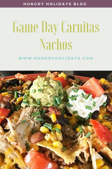 Carnitas Nachos for Game Day!