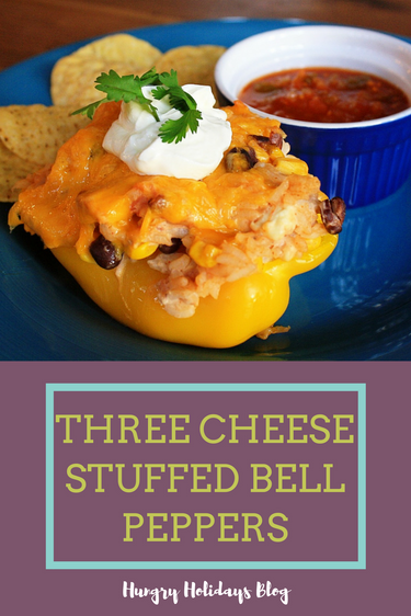 Three Cheese Stuffed Bell Peppers