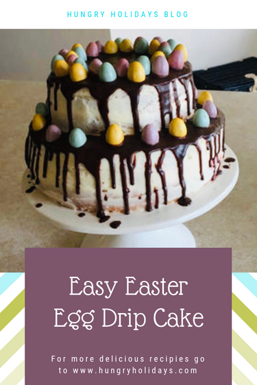 Easy Easter Egg Drip Cake