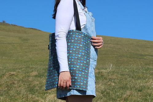 Blue Nine Lives Organic Tote Bag