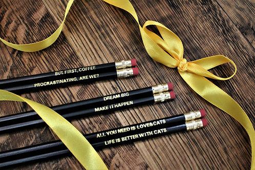 Slogan Pencil Sets