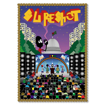 """""""sureshot"""" animation poster for FRESH JIVE exhibition"""