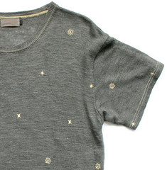 """Linen Knit T w.Asterisk"" for sureshot S/S'06"