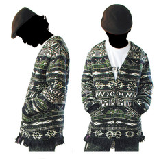 """DESIGN & PRODUCEDESIGN & PRODUCE: """"Ndebele"""" jacquard cardigan by sureshot S/S '04"""