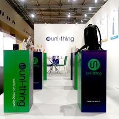 """uni-thing"" Booth Design '19SS"