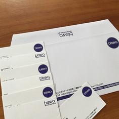 """management office """"biswa"""" envelope & card"""