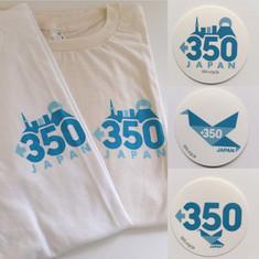 350.org JAPAN sticker & T-shirts