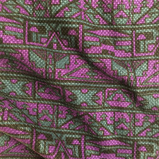 """DESIGN & PRODUCE: """"NDEBELE"""" textile by sureshot S/S '04"""
