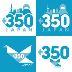 350.org JAPAN logo