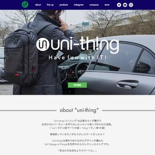 WEB DESIGN: uni-thing