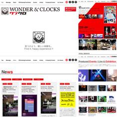 """WONDER&CLOCKS"" web"