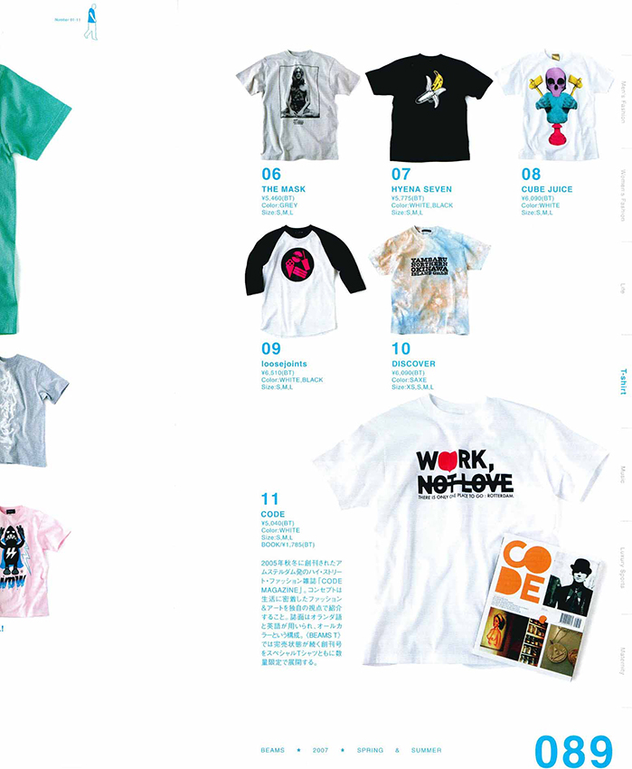 CODE @ BEAMS T catalogue