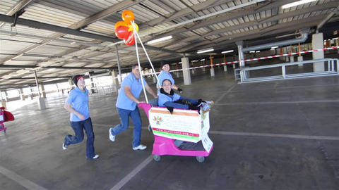 Clearwater Mall Trolley Race