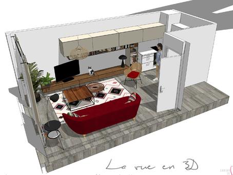 Un joli salon pour un locataire, c'est possible aussi...