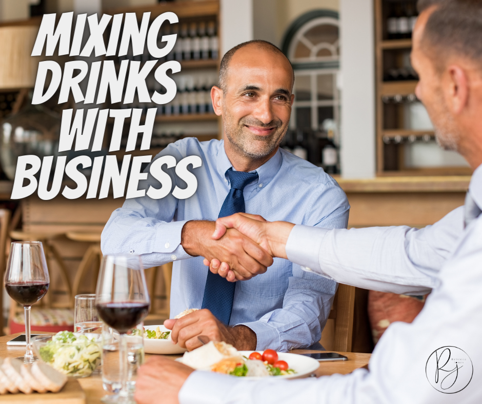 When alcohol is 'paired' with a business meeting