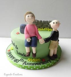 Lake District Anniversary Cake