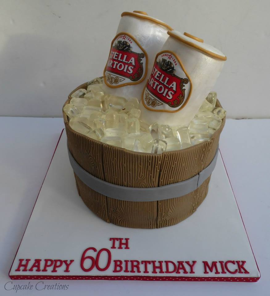 Stella Artois Birthday Cake