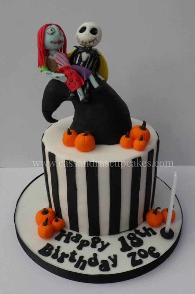 Nightmare before christmas themed cake