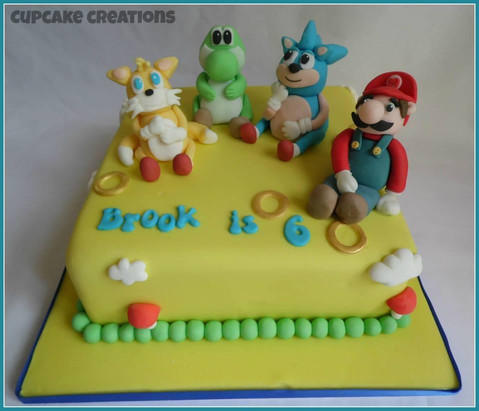 Mario & Sonic Birthday Cake