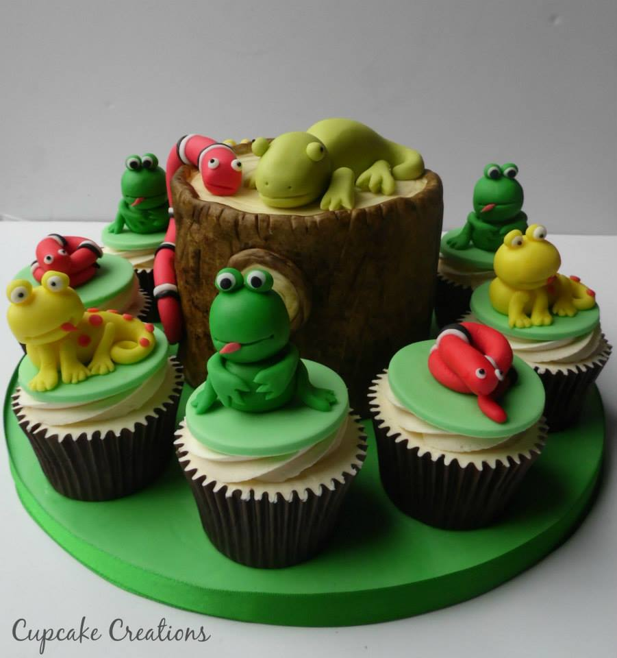 wood tree stump Cake & Cupcakes