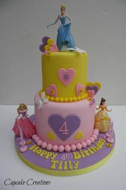 Two Tier Disney Princess Cake