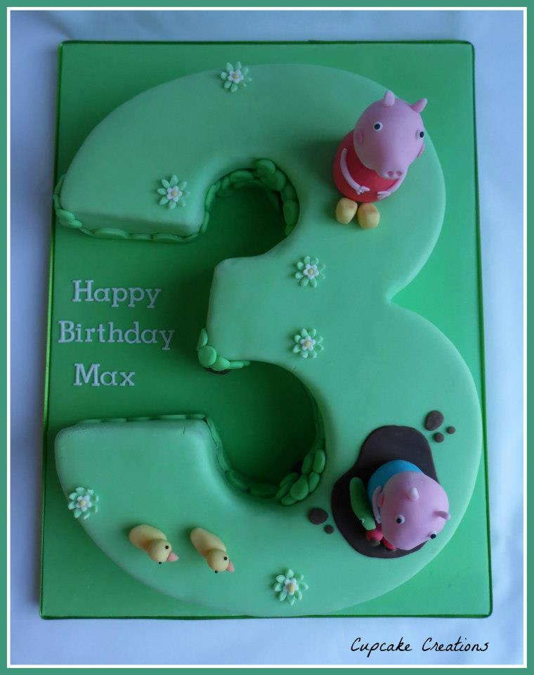 Peppa Pig 3rd Birthday Cake