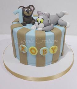 Tom & Jerry Themed Birthday Cake