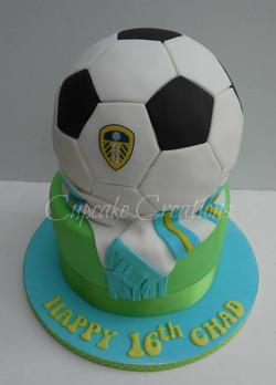 Leeds United Themed Football Cake