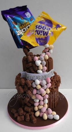 Mini Eggs & Boost Gravity Cake