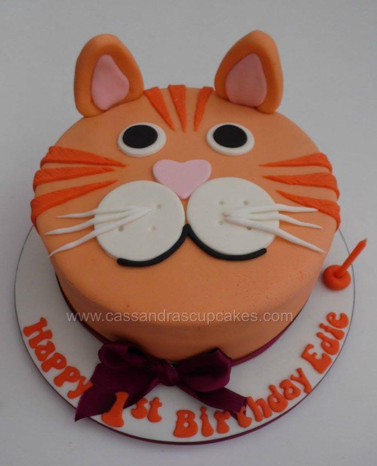 Vegan Cat Themed Birthday Cake