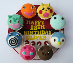 Pokemon themed cupcake board, this had around 20 more cupcakes to accompany it!!