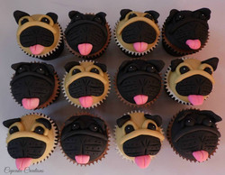 Pug Dogs Cupcakes