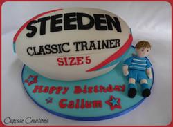 Rugby Ball Birthday Cake