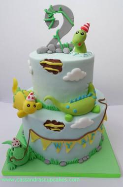 Naughty Dinosaurs cake