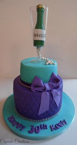 2 tier, 30th Birthday cake