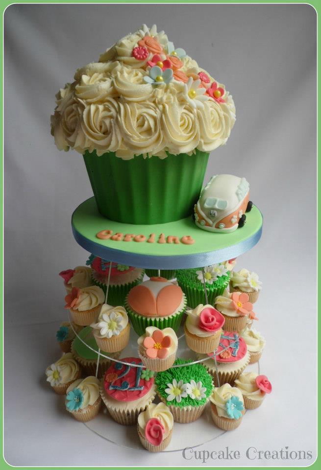 21st Birthday Cupcake Tower