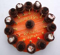 Cadburys Creme Egg's & Oreo's Cupcake Board