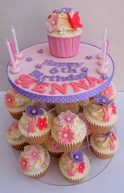 Girly Cupcake Tower