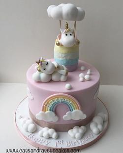Pretty Pastel Unicorn Cake