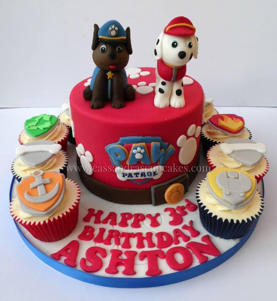 Paw Patrol themed Cake & Cupcakes