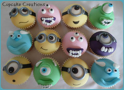 Minions & Monsters Inc Cupcakes