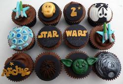 Star Wars themed Birthday Cupcakes