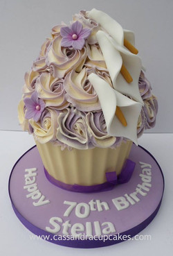 Pretty floral giant cupcake