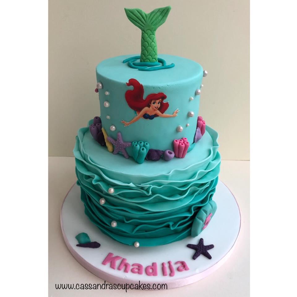 Little mermaid themed cake