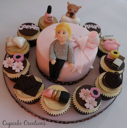 Pink Lady Birthday Cake