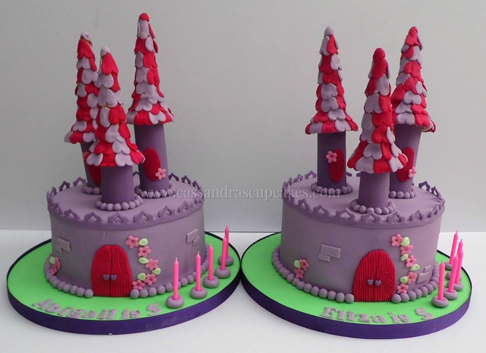 Sleeping beauty castles for two little girls celebrating their 5th birthdays